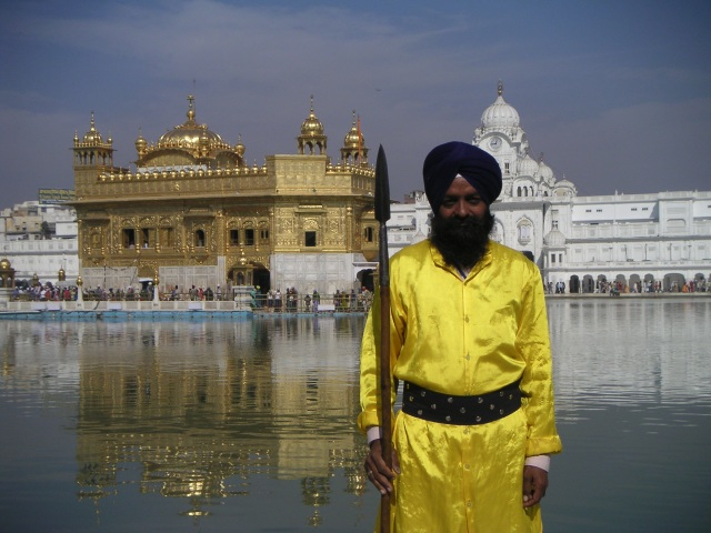 Sikh man at the Golden Temple