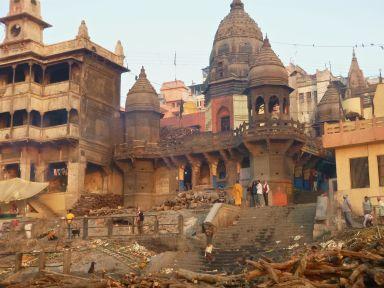 Manikarnika Ghat - the burning ghat